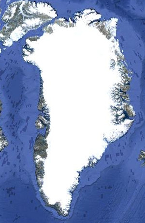 The Greenland Ice Sheet (from Google Earth)